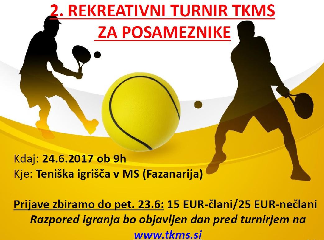 Vabilo na 2. rekreativni turnir TKMS