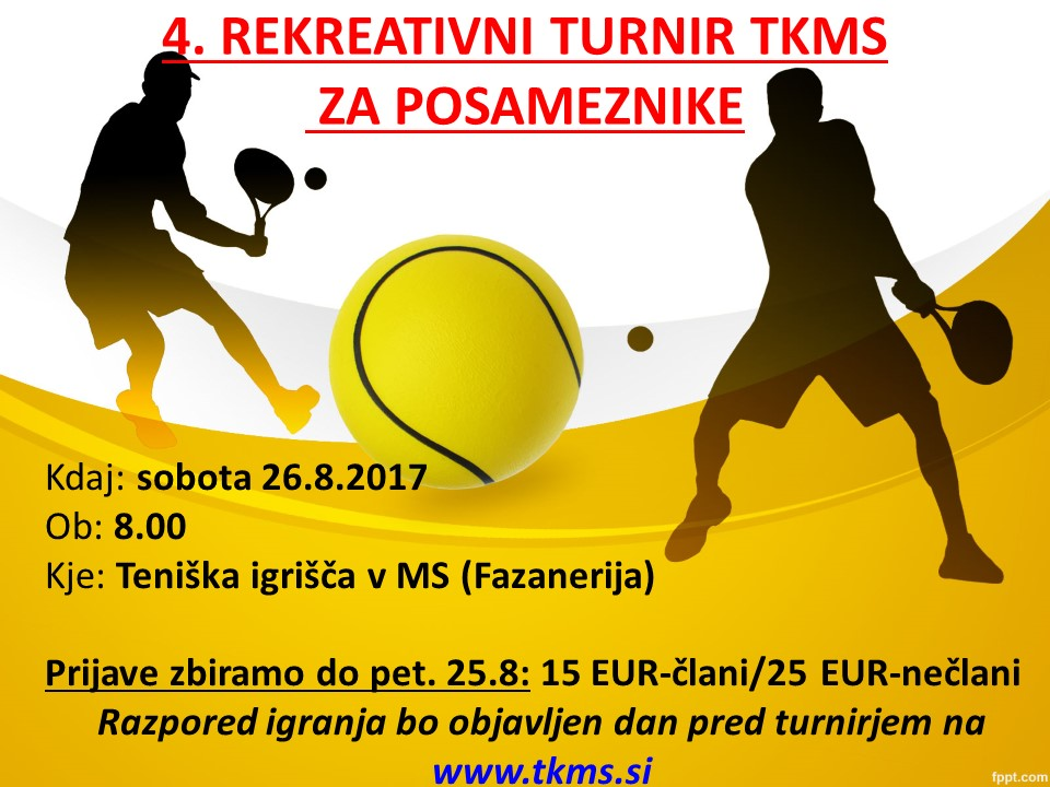 4. rekreativni turnir TKMS